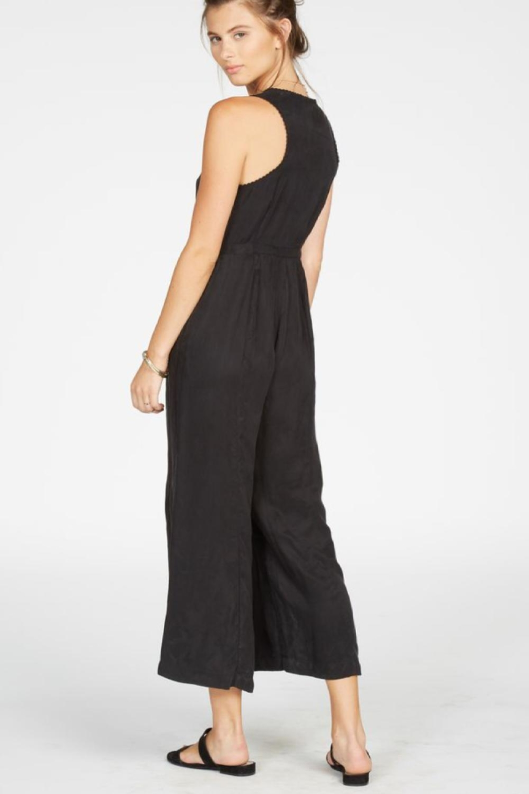 Knot Sisters Black Jumpsuit - Front Full Image