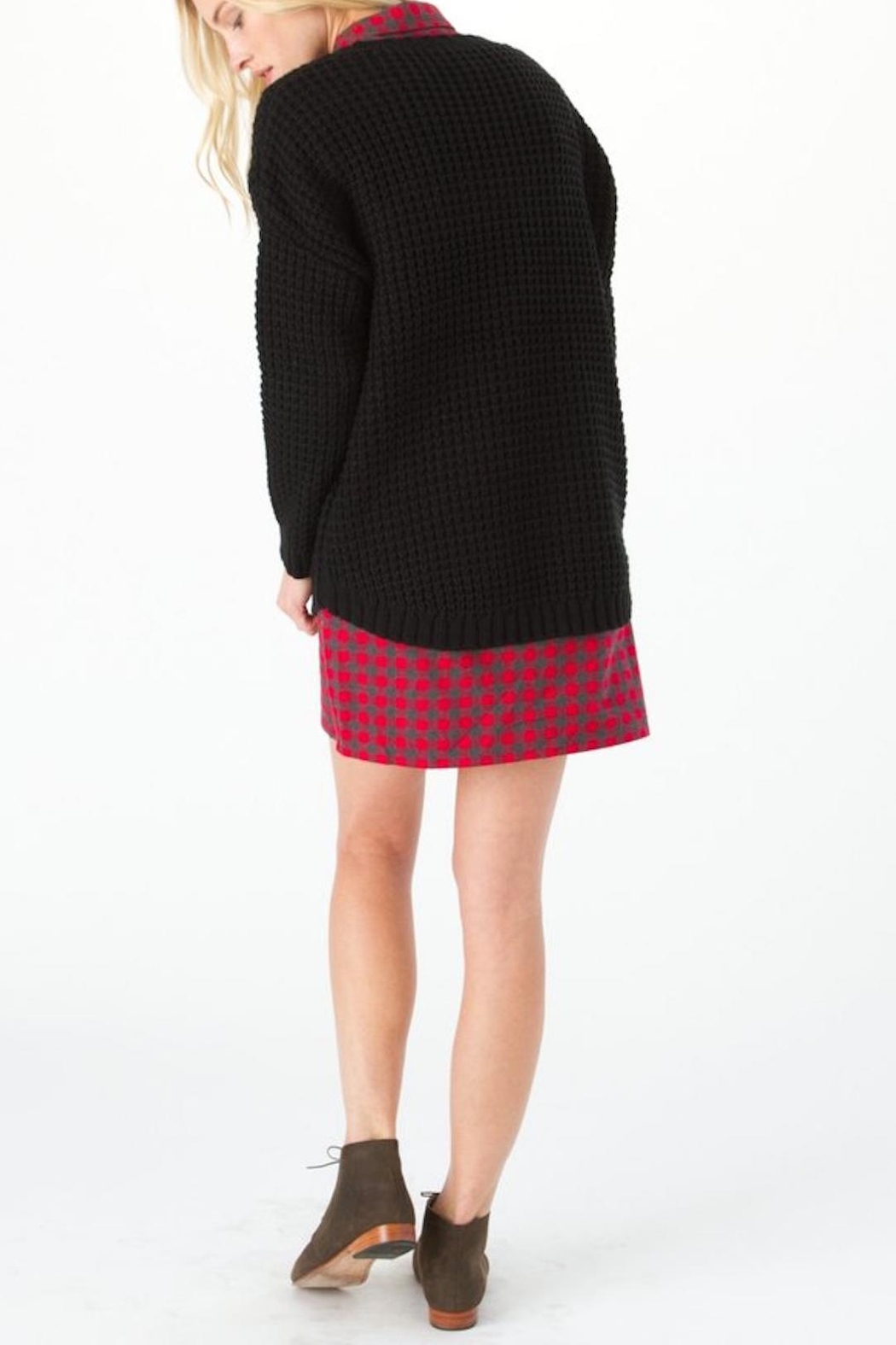 Knot Sisters Black Purba Sweater - Side Cropped Image
