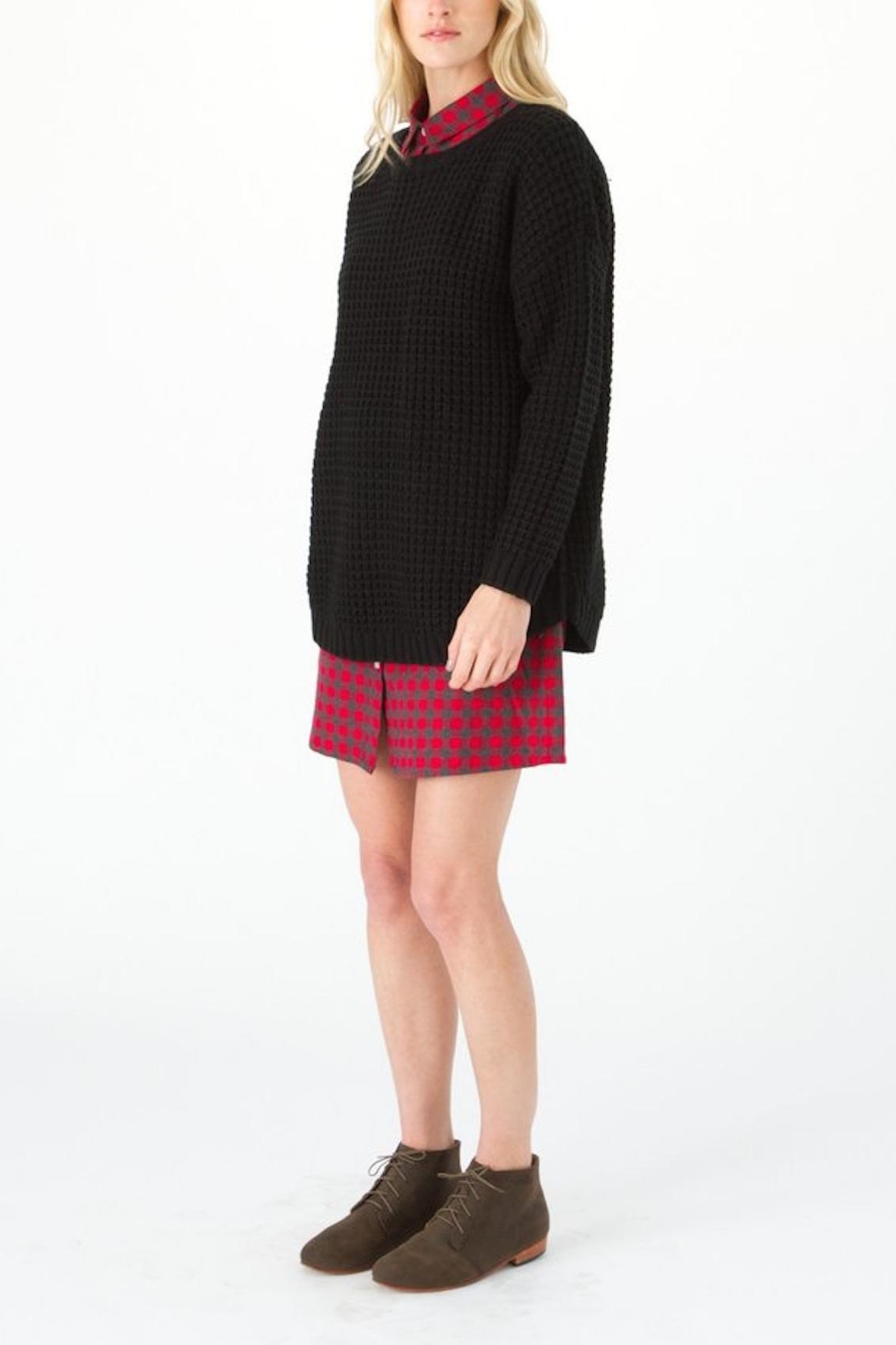 Knot Sisters Black Purba Sweater - Front Full Image