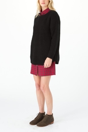 Knot Sisters Black Purba Sweater - Front full body
