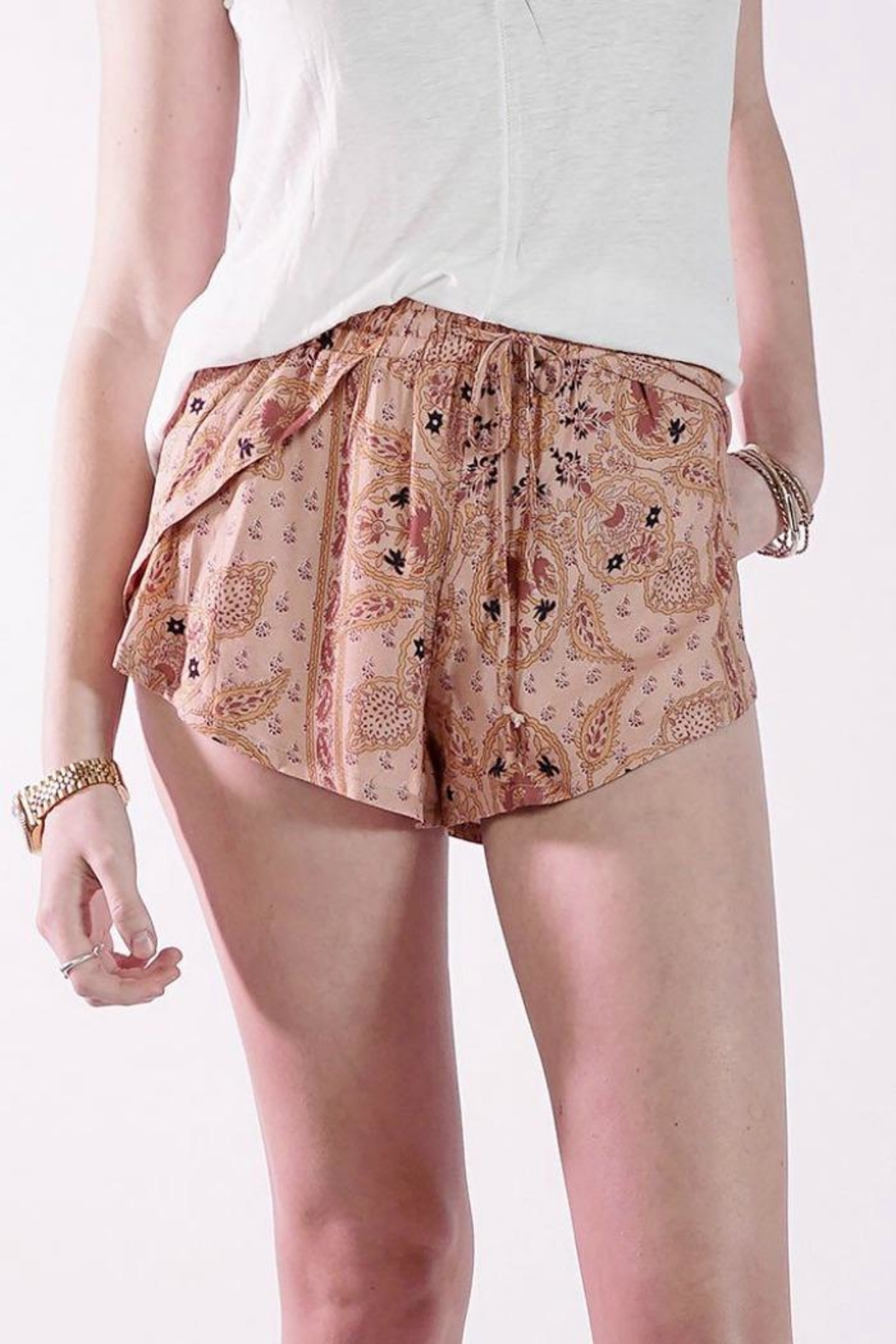 Knot Sisters Bright Eyes Shorts - Front Full Image