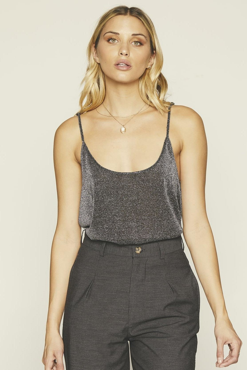Knot Sisters Crescent Tank Silver - Main Image