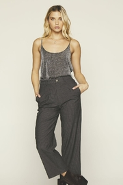 Knot Sisters Crescent Tank Silver - Front full body