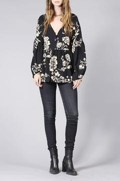 Knot Sisters Floral Carmen Top - Product List Image