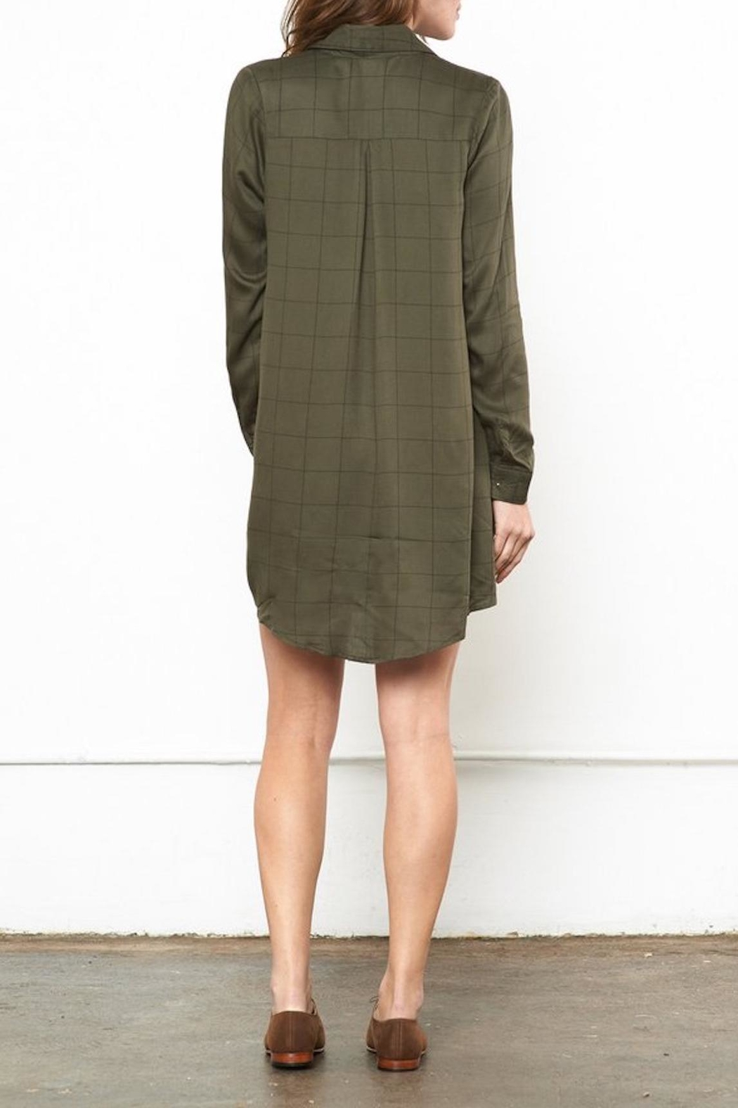 Knot Sisters Forest Shirt Dress - Front Full Image