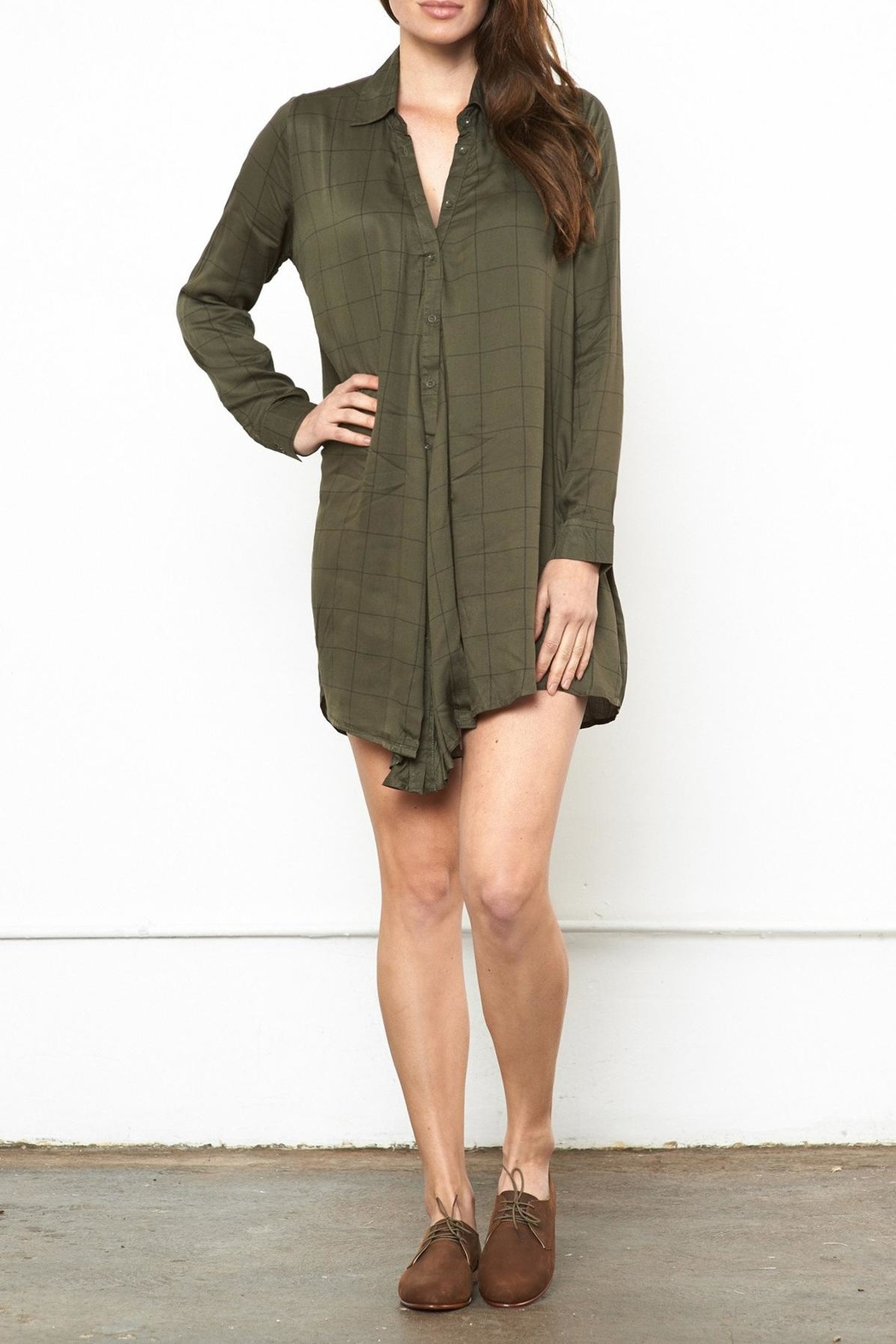 Knot Sisters Forest Shirt Dress - Main Image