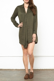 Knot Sisters Forest Shirt Dress - Front cropped