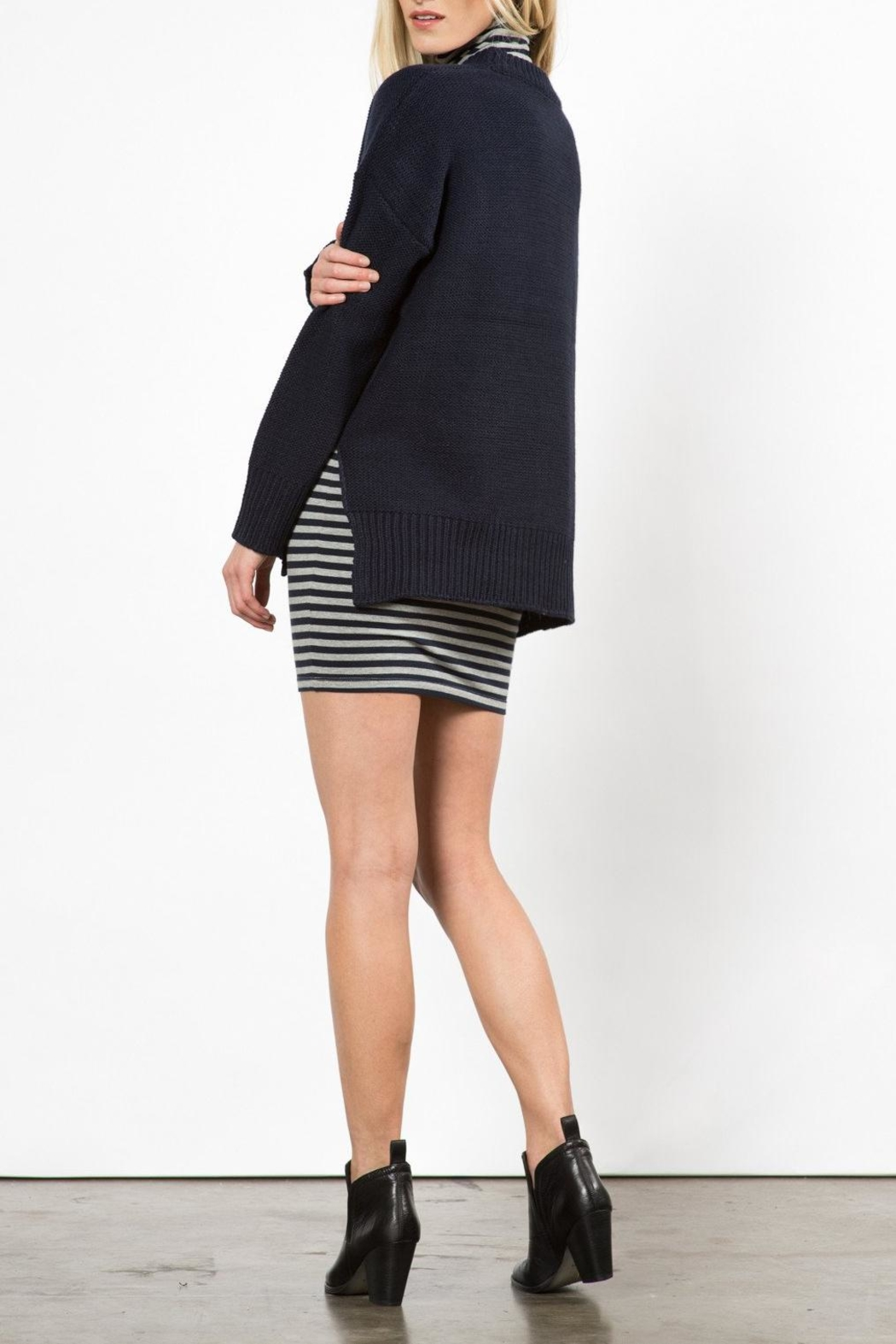 Knot Sisters Neilson Navy Sweater - Side Cropped Image