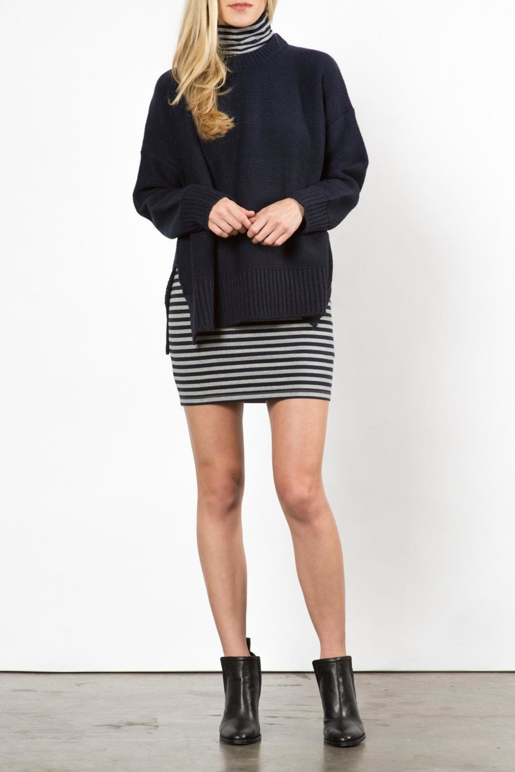 Knot Sisters Neilson Navy Sweater - Main Image