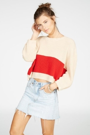 Knot Sisters Striped Sweater - Front full body