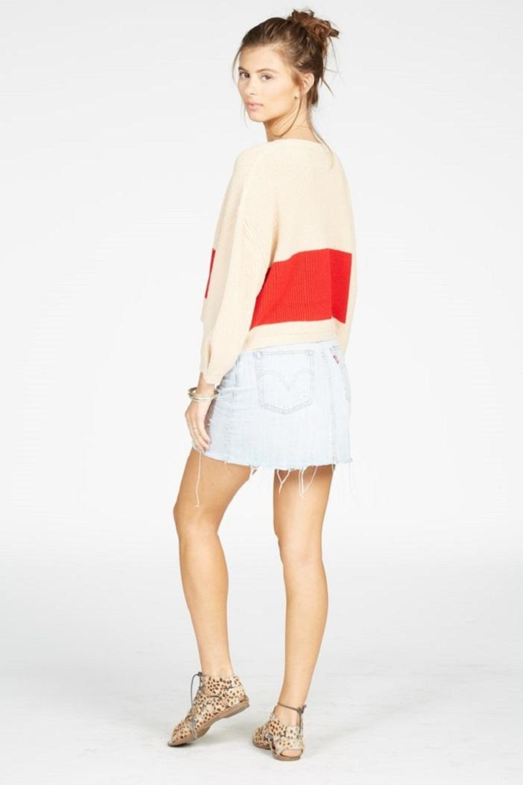 Knot Sisters Striped Sweater - Side Cropped Image