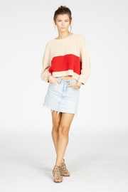 Knot Sisters Striped Sweater - Back cropped