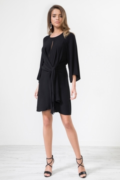Urban Touch Knotfront Longsleeve Dress - Product List Image