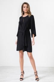 Urban Touch Knotfront Longsleeve Dress - Product Mini Image