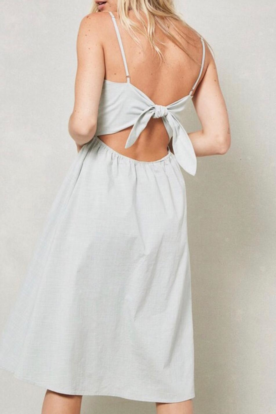LuLu's Boutique Knotted-Back Midi Dress - Side Cropped Image