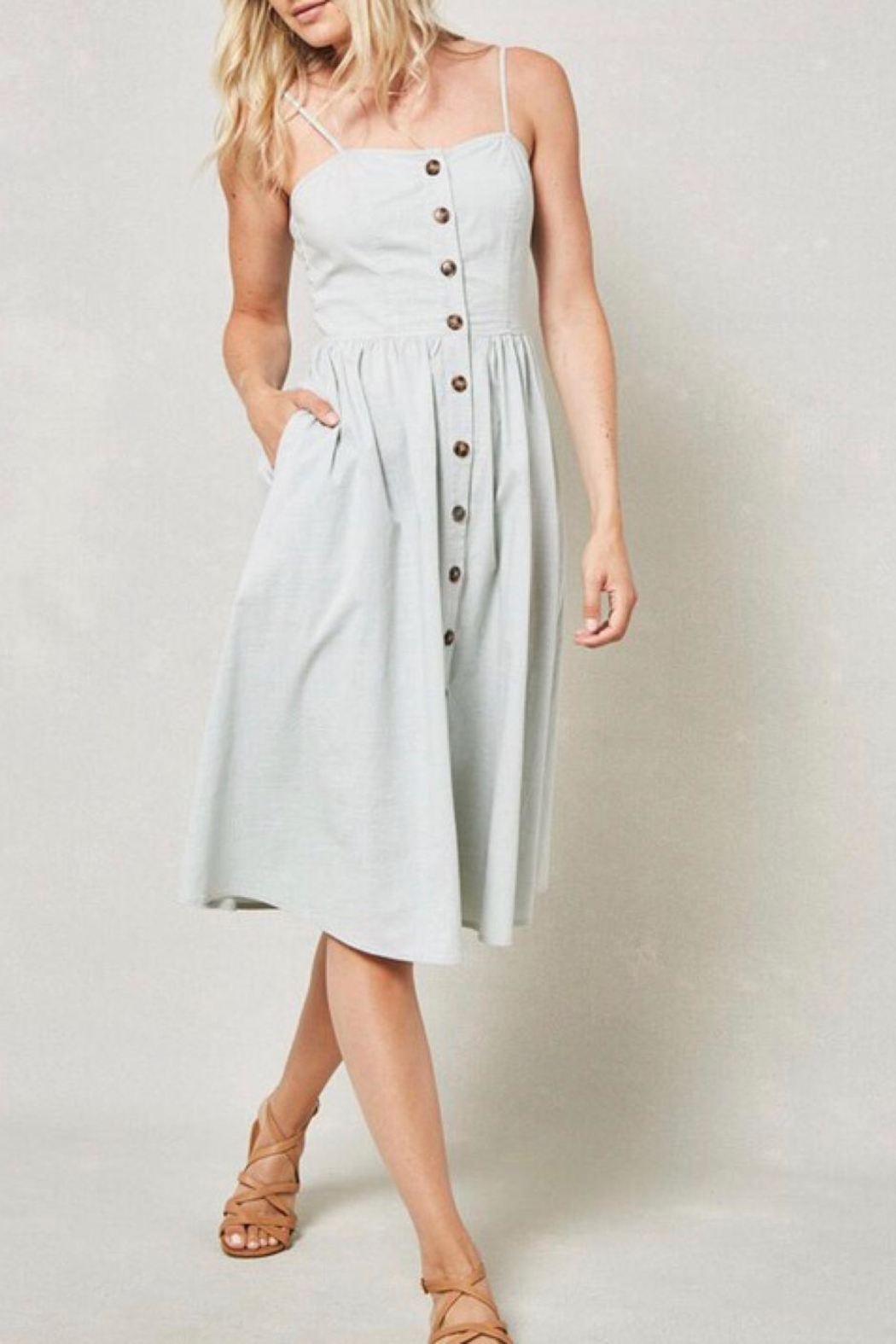 LuLu's Boutique Knotted-Back Midi Dress - Back Cropped Image