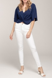 Everly Knotted Crop Top - Product Mini Image