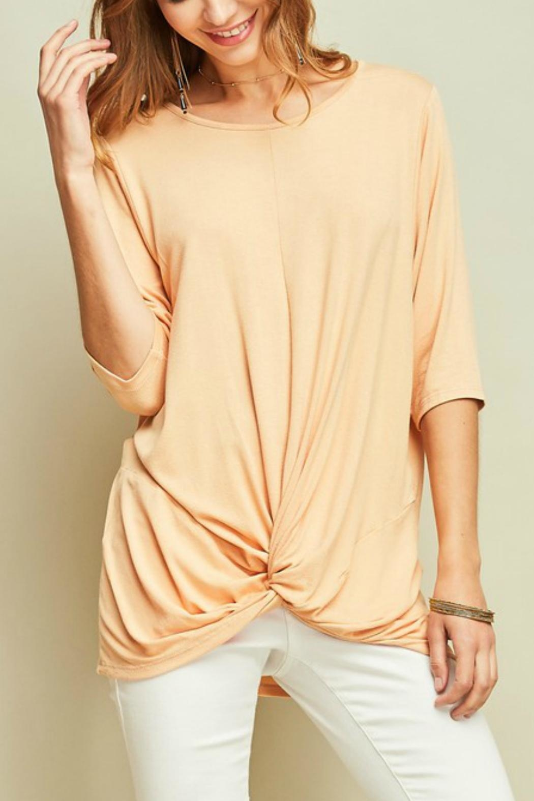Entro Knotted Dolman-Sleeves Tunic - Main Image