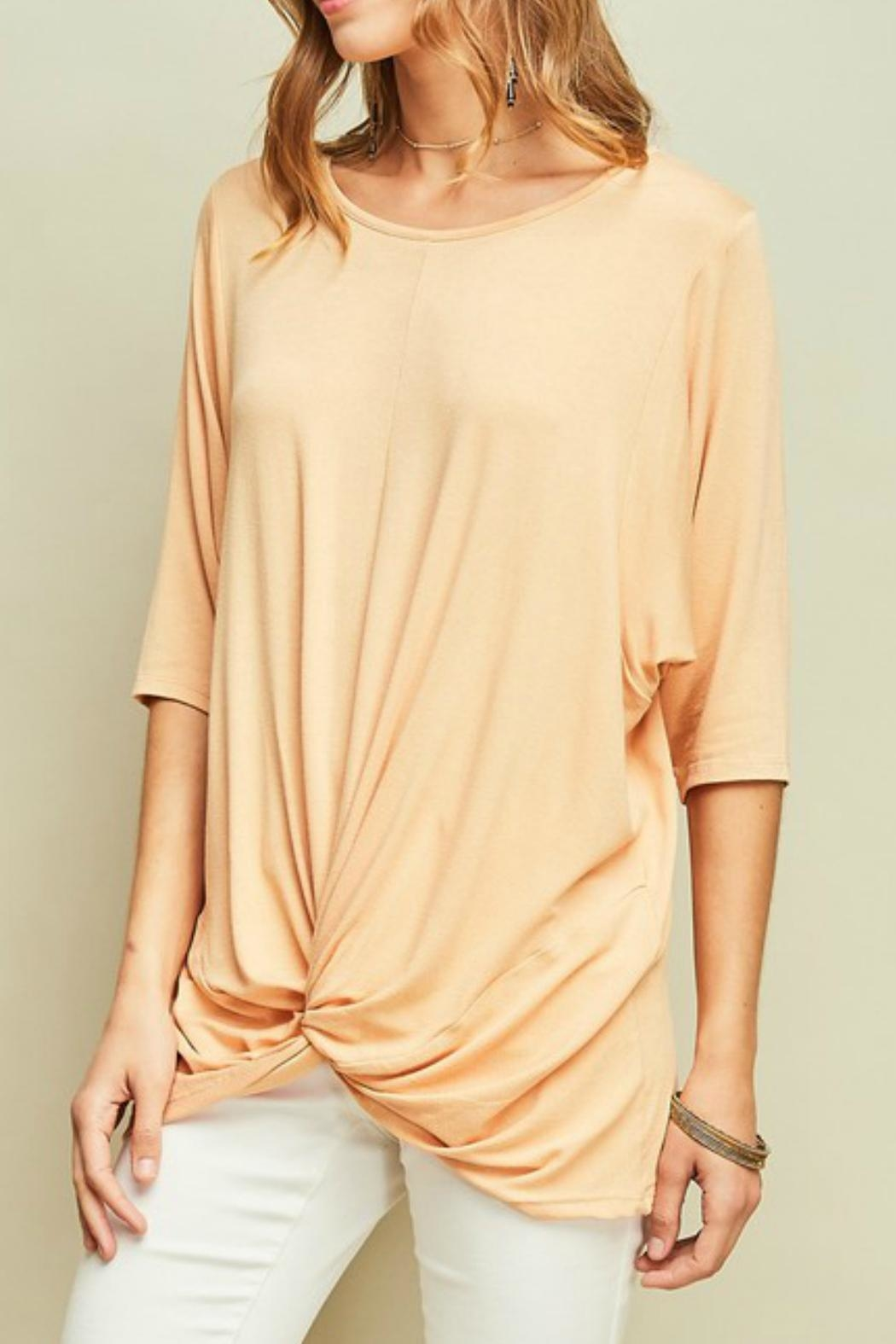 Entro Knotted Dolman-Sleeves Tunic - Front Full Image