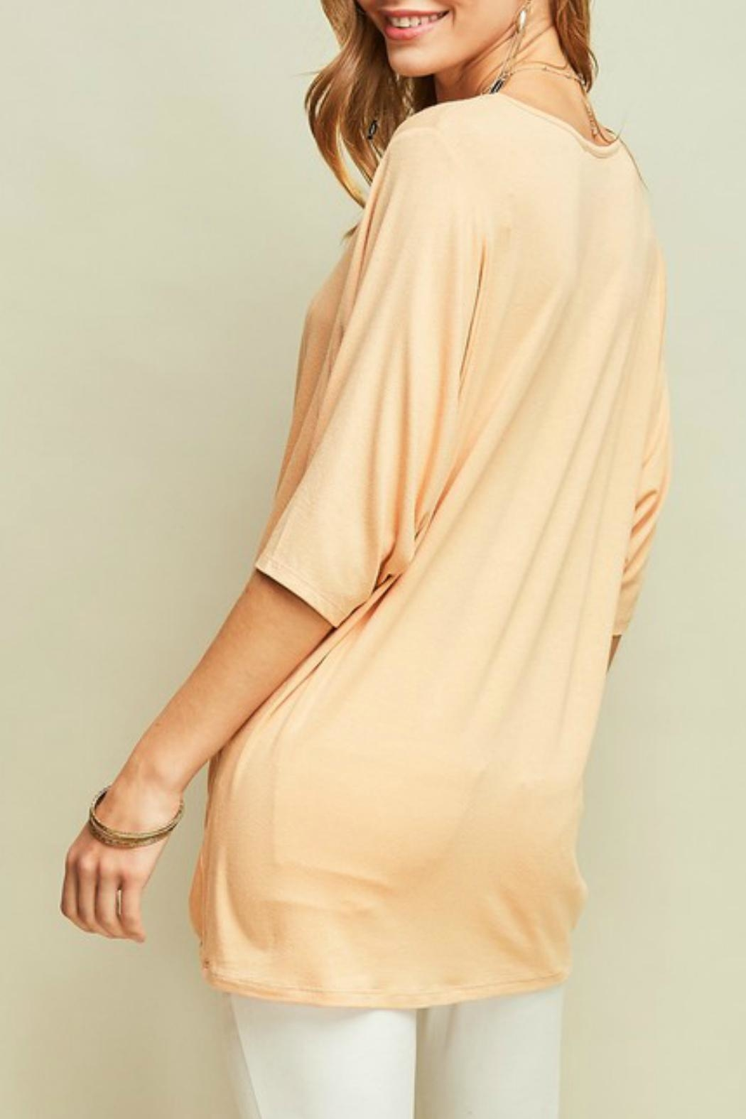 Entro Knotted Dolman-Sleeves Tunic - Side Cropped Image