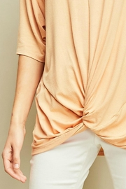 Entro Knotted Dolman-Sleeves Tunic - Back cropped