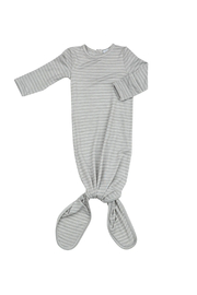 Angel Dear  Knotted Gown - Grey Stripe Hippo - Product Mini Image