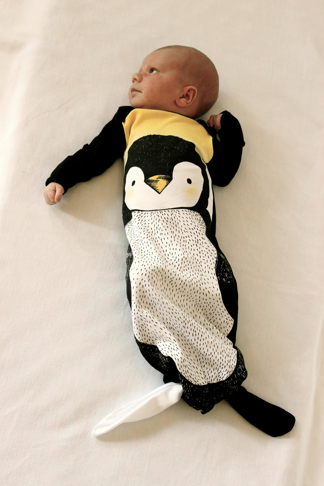 Electrik Kidz Knotted Gown - Penguin - Front Full Image