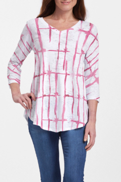 Whimsy Rose Knotted Pink - V-Neck Flowy T - Product List Image