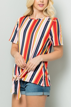 Lyn-Maree's  Knotted Short Sleeve Tee - Product List Image