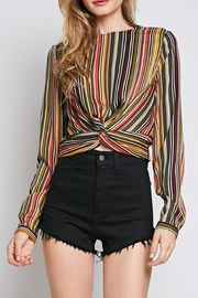 Idem Ditto  Knotted Stripe Blouse - Product Mini Image