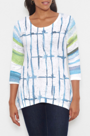 Whimsy Rose Knotted Stripe - Katherine Hi-Lo Thermal Tunic - Product Mini Image