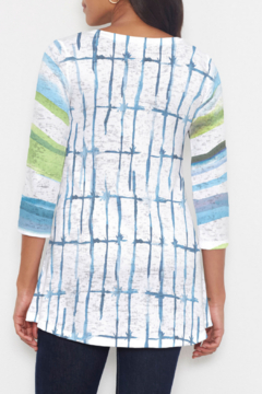 Whimsy Rose Knotted Stripe - Katherine Hi-Lo Thermal Tunic - Alternate List Image