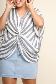 Umgee USA Knotted Stripe Top - Product Mini Image