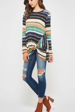Bellamie Knotted Striped Sweater - Alternate List Image