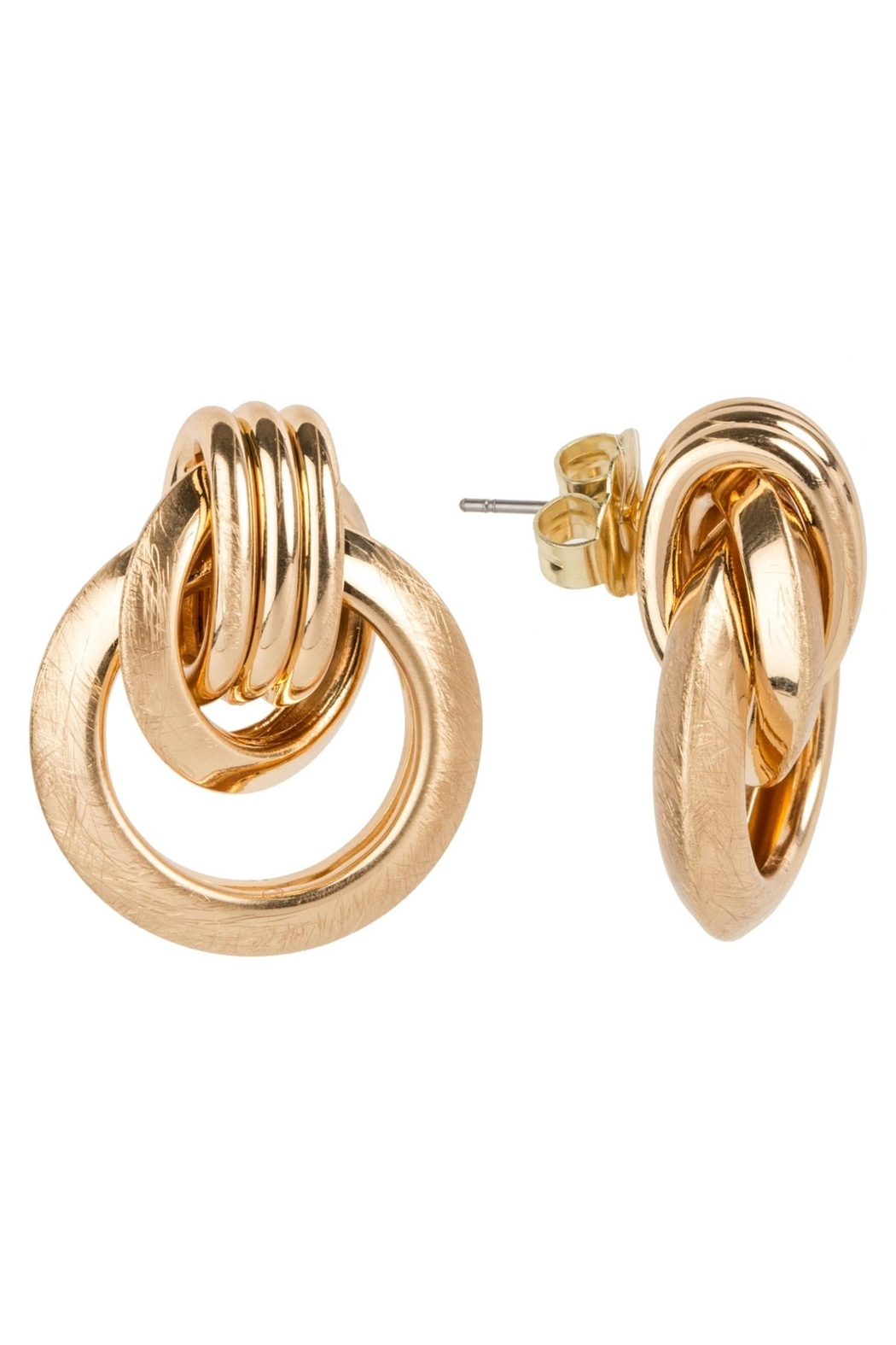 Saachi Knotted Stud Earring - Back Cropped Image