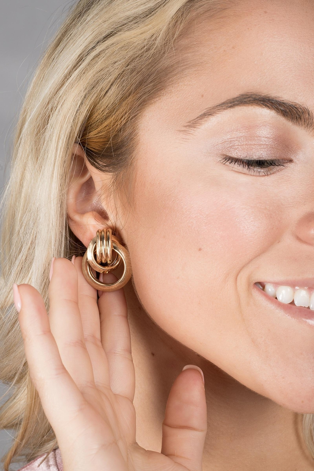 Saachi Knotted Stud Earring - Front Full Image