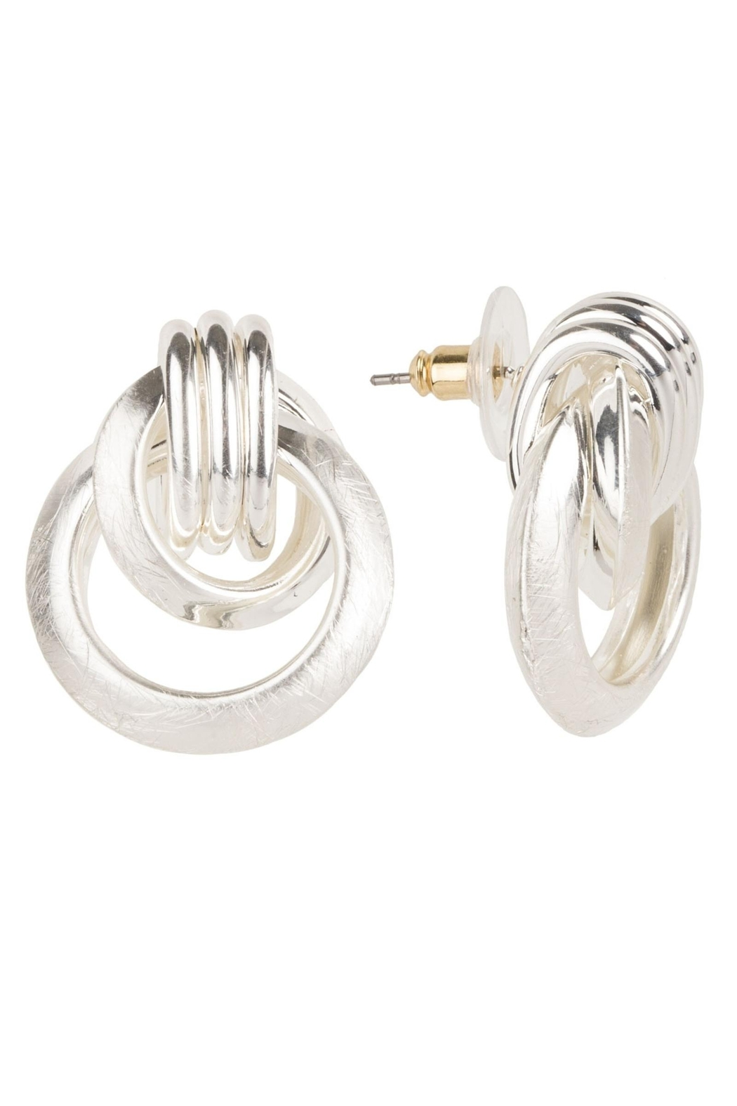 Saachi Knotted Stud Earring - Side Cropped Image