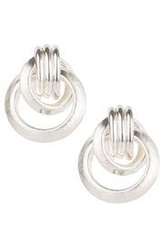 Saachi Knotted Stud Earring - Front full body