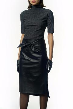 Shoptiques Product: Tie Front Leather Skirt