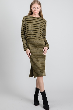 Shoptiques Product: Knit Sweater And Dress Set