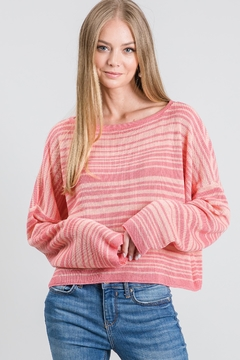 KOAH Striped Knit Sweater - Product List Image