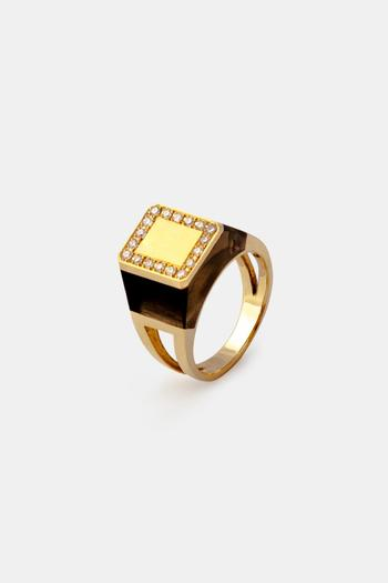 Koji Takuma Agate Signet Ring from West Village by H P F