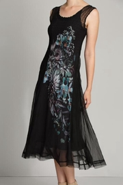 Komarov Floral Panel Dress - Front full body