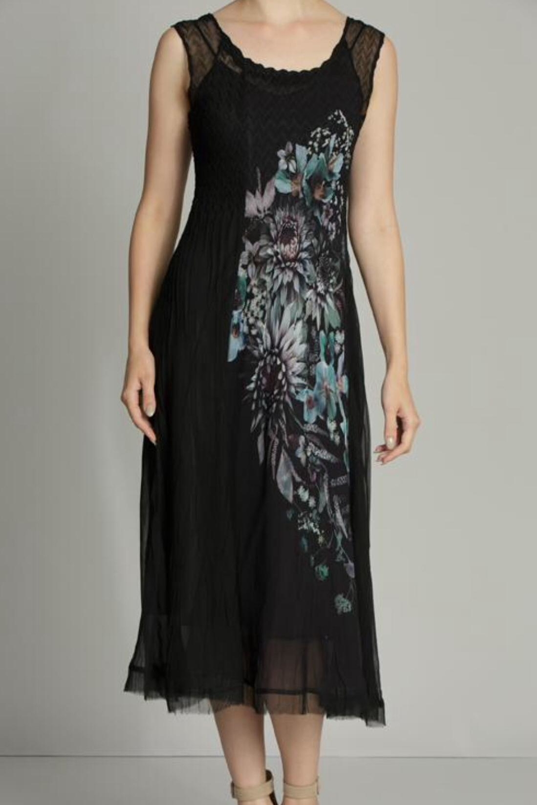 Komarov Floral Panel Dress - Front Cropped Image