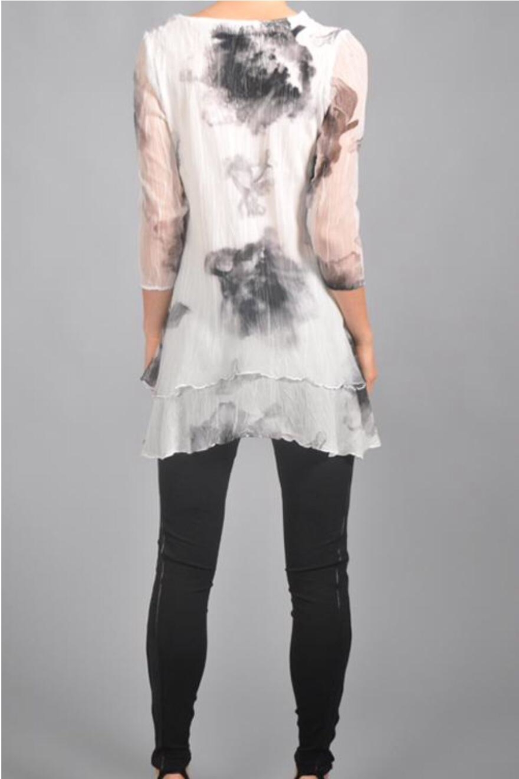 Komarov Floral Pleated Tunic - Side Cropped Image