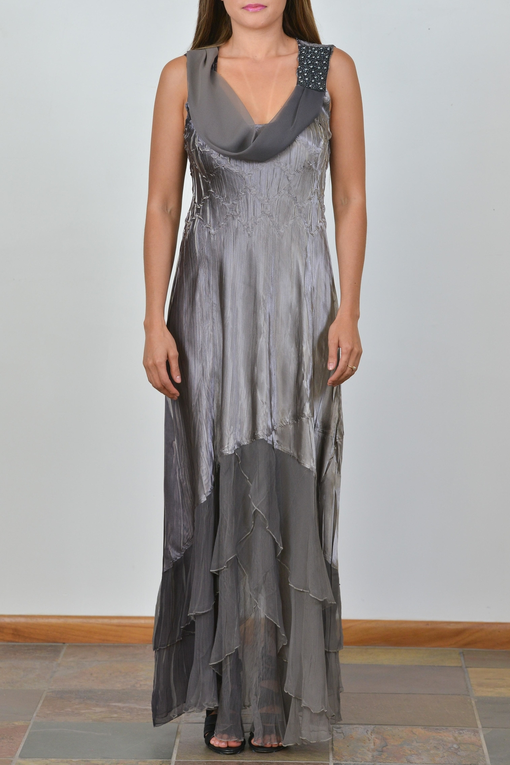 Komarov Long Evening Dress - Front Cropped Image