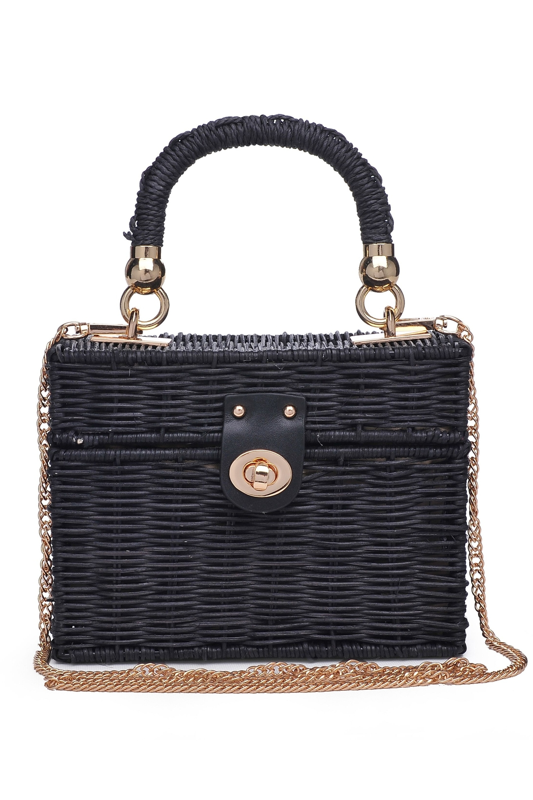 Urban Expressions Kona Straw Satchel - Front Cropped Image