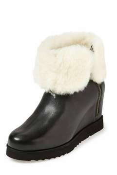 Shoptiques Product: Leather Wedge Bootie