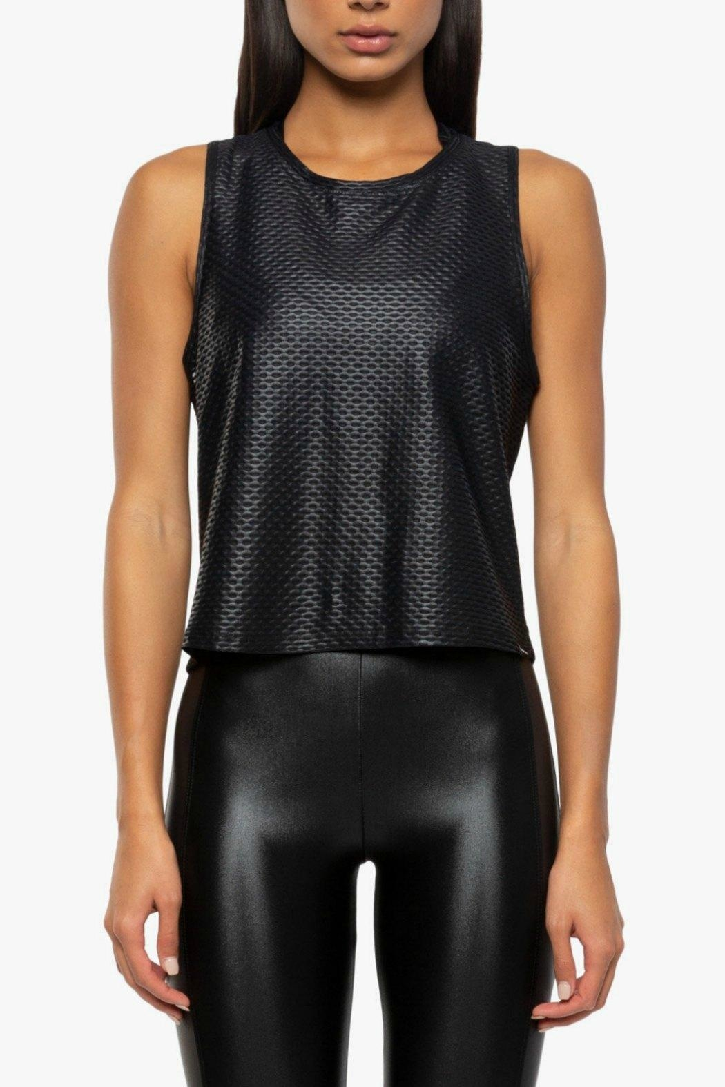 KORAL Muscle Shiny-Netz Tank - Front Cropped Image
