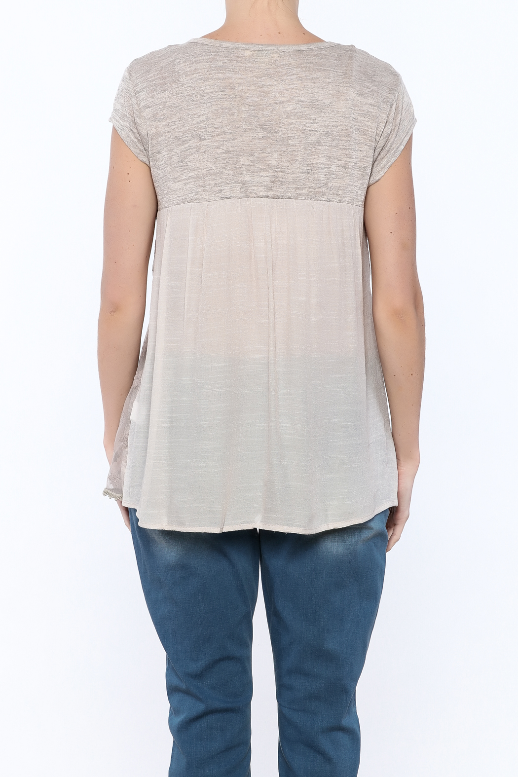 KORI AMERICA All In The Details Tee - Back Cropped Image